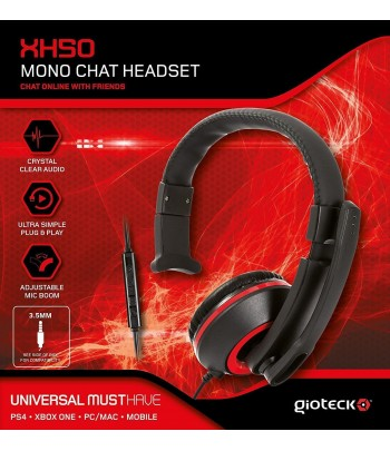Gioteck XH50 Red Wired Mono...
