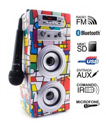 Coluna + Radio + BlueTooth + Microfone Joybox - Picasso
