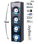 Torre de Som Z8Box Bluetooth 40W Led Azul (76cm)