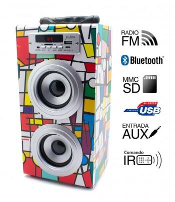 Coluna + Radio com BlueTooth Joybox - Picasso