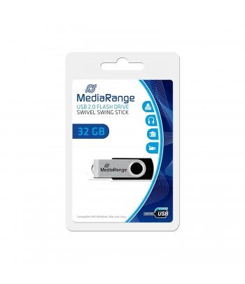 Pendrive Mediarange com capacidade de 32GB. USB 2.0