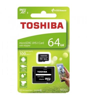 Cartão Toshiba microSDXC 64GB M203 UHS-I Class 10 - 100mb/s