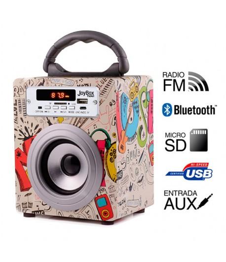 Coluna + Radio com BlueTooth Joybox Pocket - Guitar