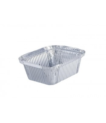 Take Away Embalagem de Alumínio Rectangular 500ml (1000 uds)