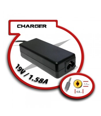 Transformador para Portatil 19V/1.58A 4.8mm x 1.7mm 30W