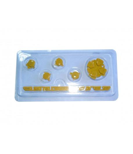 kit de botões para PSP AMARELO