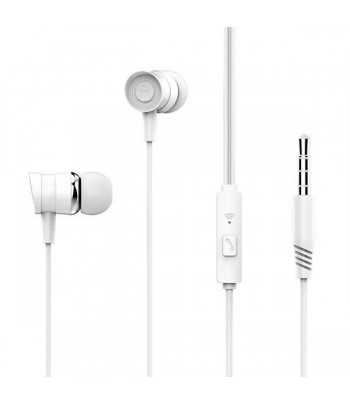 Auriculares + Microfone Music EP20 Branco