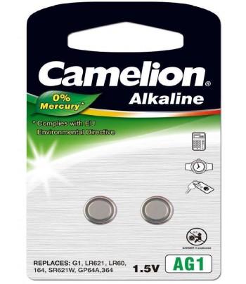 Pilhas botão Alcalina AG1 / LR60 1.5V 0% Mercurio(2 pcs)Came