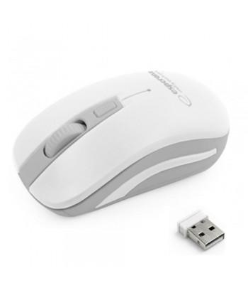 Rato Óptico 800/1200/1600 DPI s/ Fios 2.4GHz Branco/Cinzento