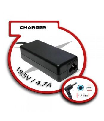 Transformador para Portatil 19.5V/4.7A 4.5mm x 3mm 90W