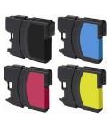 Pack de 4 tinteiros compativeis LC980 / LC1100