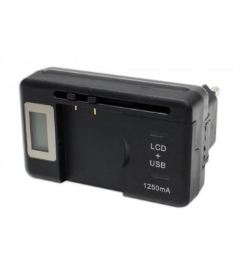 Carregador de baterias universal com LCD